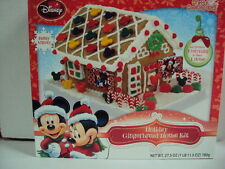 "DISNEY ""MICKEY & MINNIE MOUSE CHRISTMAS GINGERBREAD HOUSE KIT"" NO BAKING REQ""D"