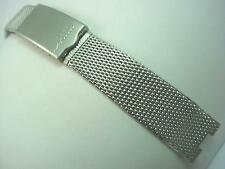 "Mido Finesse Mens Vintage Watch Band Stainless 17.5mm 11/16"" Deployment Clasp"