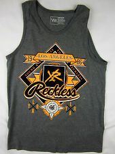 Young & Reckless Los Angeles skate men's gray soft tank top size MEDIUM
