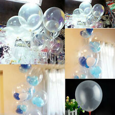"""10Pcs Clear Transparent Thicken Latex Balloons Birthday Wedding Party Decor 10"""""""