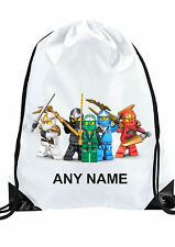 BOY Personalised LEGO Ninjago Ninja Gym BAG Swimming PE football sport birthday