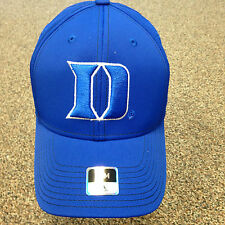 BRAND NEW BLUE/WHITE NCAA DUKE BLUE DEVILS FITTED FLEX HAT SIZE S/M ADIDAS NWT!