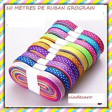 LOT DE**10 METRES ****GALON ,RUBAN, MERCERIE  10 mm*****POIS MULTICOLORE******