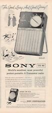 1958 Sony Model TR 610 & TR-86 Portable Transistor Radio PRINT AD
