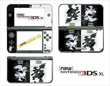 SKIN STICKER AUTOCOLLANT - NINTENDO NEW 3DS XL - REF 190 POKEMON N&B