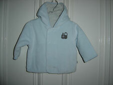 MOTHERCARE BABY BOYS VELOUR COAT WITH TRAIN MOTIF & HOOD TO FIT 3-6 MONTHS