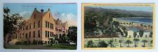 TWO Santa Barbara CA Postcards High School, Cabrillo Boulevard FREE Shipping