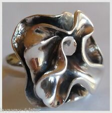 HTF Silpada LARGE Blooming Flower Ring 925 Sterling Silver BOLD Size 10 RETIRED
