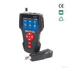 Network Wire Tracker Cable Tester RJ45 RJ11 BNC POE PING JACK NF-8601A