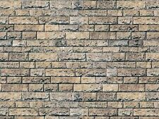 # 6 SHEETS  SELF ADHESIVE PAPER stone wall 21x29cm SCALE 1/6 CODE 1A9S6