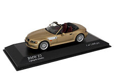 BMW Z3 by Minichamps 1/43 Die-Cast Model 1999 Gold Metallic. Limited of 1008