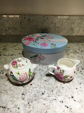 Bird Song Fine China Sugar Bowl & Creamer