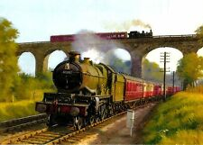 Brief Encounter at Severn Bridge Beautiful Picture Painting Poster Steam Train