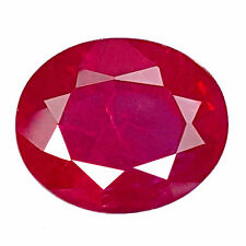 6.40 CT AWESOME RED RUBY OVAL SHAPE LAB CREATED CHATHUM