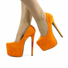 NEW LADIES WOMENS CONCEALED PLATFORM STILETTO HIGH HEELS COURT SHOES SIZE 3-8