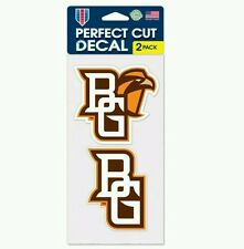 BOWLING GREEN FALCONS PERFECT CUT 4X4 DECAL 2 PACK FREE SHIPPING