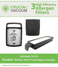 Vacuum Filter Kit Fits Eureka 4D Boss 62733 62733-4 DCF15 DCF8 DCF-8 73494