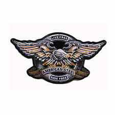 Biker Chopper Live Free Ride free Iron Eagle Adler aufbügler Patch Patch grande