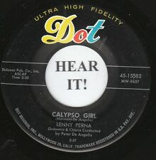 Lenny Perna CALYPSO 45 (Dot 15582)Calypso Girl/I Hope you Find a sweetheart VG++