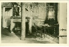 Wallingford, VT Table and Fireplace in the Old Stone Tea Shop RPPC