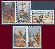 LAOS N°1419A/1419E** Nouvel An à Luang-Prabang, 2001, New Year Set MNH