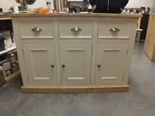 RUTLAND PAINTED 3 DOOR SIDEBOARD HAND MADE ROUGH SAWN BESPOKE COLOUR SIZES