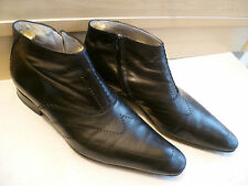 Jean Baptiste Rautureau zip bottines uk 8.5 42.5 bout pointu cuir chukka