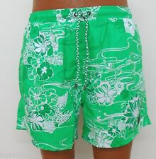 Men's HUGO BOSS Green Floral swimming trunks board shorts Piranha size L