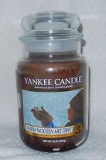 YANKEE CANDLE WARM WOOLEN MITTENS  - MY FAVORITE THINGS  LARGE JAR 22 OZ RETIRED