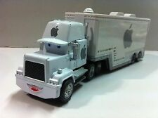 Disney Pixar Car Mack White Apple Racer's Hauler Truck 1:55 Loose New In Stock