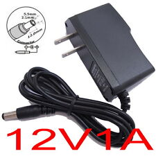 AC Converter Adapter DC 12V 1A Power Supply Charger US plug 5.5mm x 2.1mm 1000mA
