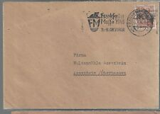 1940's Occupied Germany Frankfurt Cover to Oberhausen