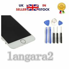 """White iPhone 6 4.7"""" Replacement Digitizer Touch Screen with Home Button CameraUK"""