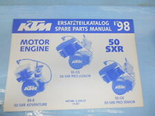 1998 KTM 50 SXR Adventure Pro Junior Senior Engine Spare Parts Manual 320427