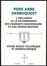 Abbé Desbuquoit Étude radiotellurique et géobiologique Géobiologie Sourcier