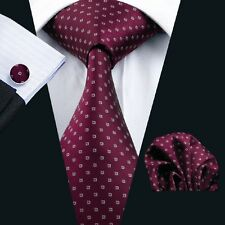 C-875 New Style Men's 100% Silk Neckties Tie+Hanky+Cufflinks Sets Free Shipping