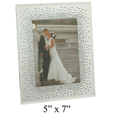Wedding Mirror Glass Photo Picture Frame Starburst Crystals Gift Frames 5x7