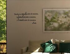 BENDICE LA COMIDA ANTES DE NOS -Spanish Vinyl wall decals quotes sayings #1090