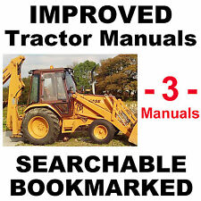 Case 580 Super K 580SK Tractor Backhoe Loader SERVICE & PARTS MANUAL -3- MANUALS
