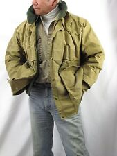 Filson 61N Tin Cloth Packer Coat Water Resistant Wool Lined Snap Men's 46  WOR