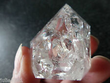 FIRE & ICE QUARTZ (37.8 grams / 34 mm) POLISHED STANDING CRYSTAL  (5) BRAZIL
