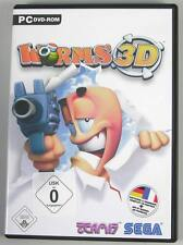 Worms 3d PC Team 17 XP alemán con manual