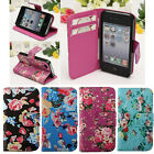 Ultra Thin Flower Leather Flip Wallet Card Stand Case Cover For Apple iPhone4 4S