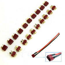 New 10 Pairs T Plug Male and Female Connectors For Deans RC Car Helicopter
