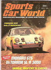Sports Car World 1975 May Monaro HJ GTS Capri 911S Torana SLR 5000 Illinga