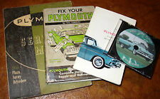 1955 Plymouth Service Manual Belvedere Savoy Plaza P26 P27 P28 P29 V8 & Owners