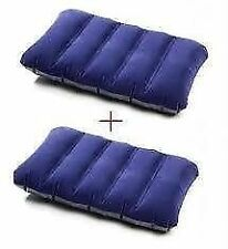 Set of 2 pcs Travel Air Pillow Fabric Comfort Rest Genuine