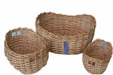 WICKER 3  SET  STORAGE BASKETS
