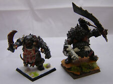 Warhammer Ogre Kingdoms Butcher / Slaughtermaster + Tyrant metal painted army lo