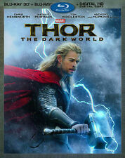 Thor: The Dark World (2-Disc 3D Blu-ray + Blu-ray + Digital HD), Good DVD, Tom H